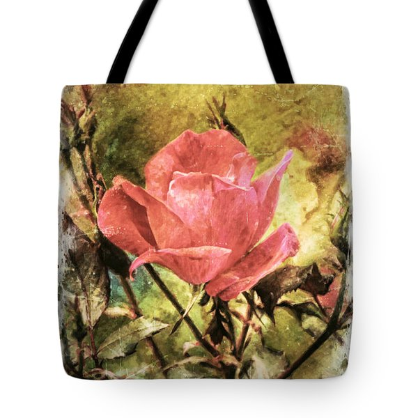 Vintage Rose Tote Bag by Tina  LeCour