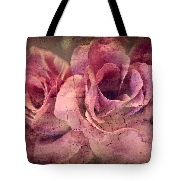 Vintage Roses - Deep Pink Tote Bag by Judy Palkimas
