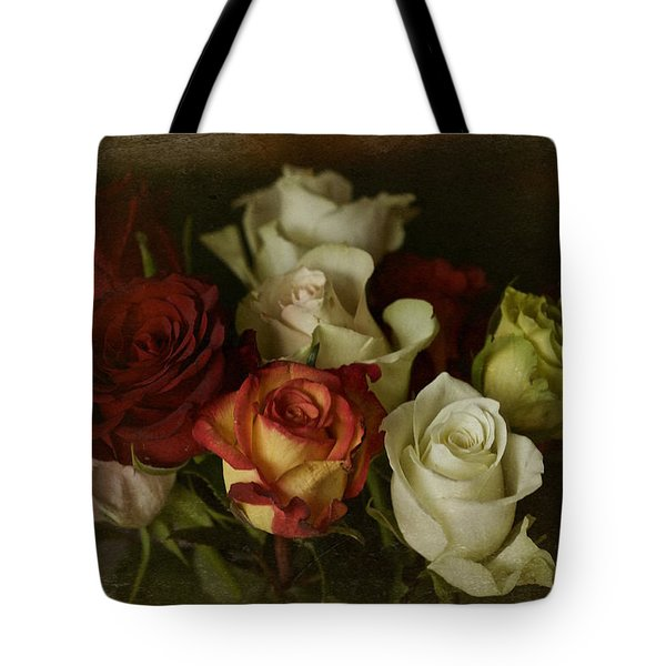 Tote Bag featuring the photograph Vintage Roses Feb 2017 by Richard Cummings