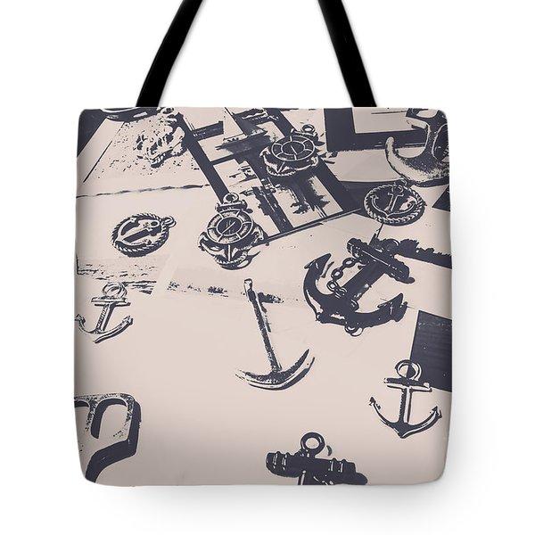 Vintage Sailing Art Tote Bag