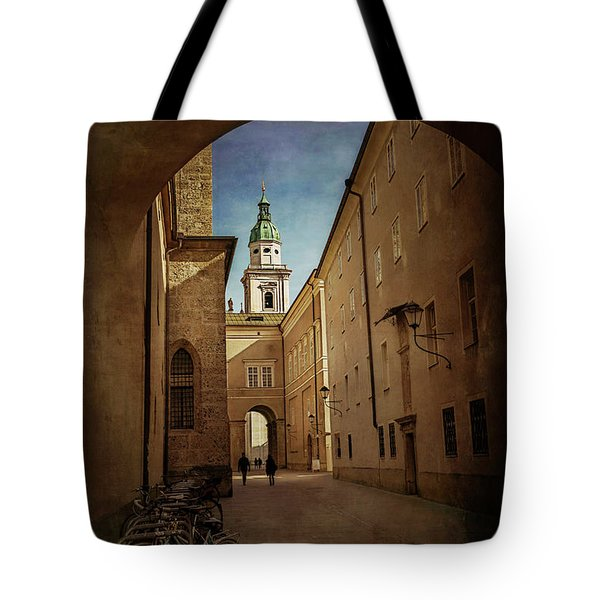 Tote Bag featuring the photograph Vintage Salzburg by Carol Japp
