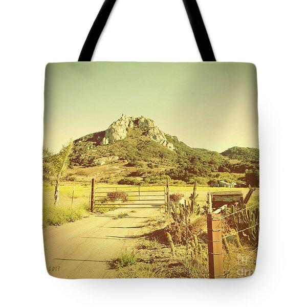 Vintage San Luis Obispo California Seven Sisters  Tote Bag