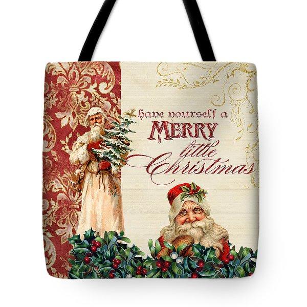 Vintage Santa Claus - Glittering Christmas Tote Bag