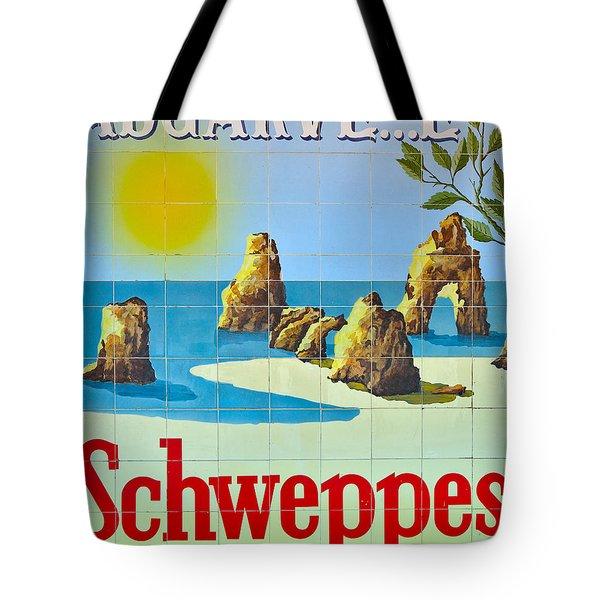 Vintage Schweppes Algarve Mosaic Tote Bag by Angelo DeVal