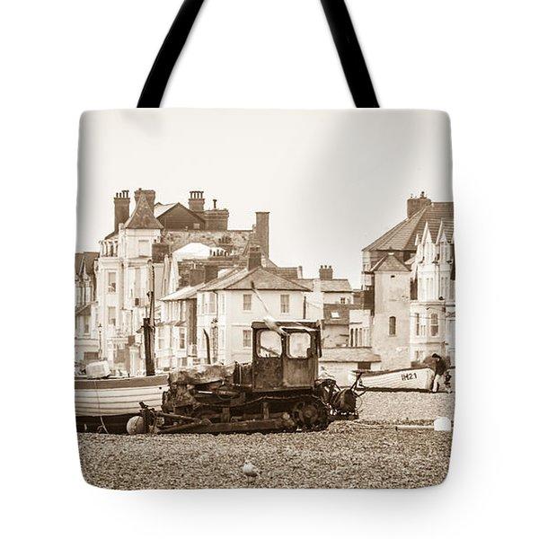 Vintage Seaside Tote Bag by David Warrington