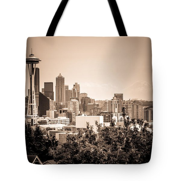 Vintage Seattle And Space Needle Tote Bag
