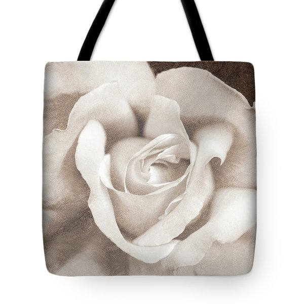 Tote Bag featuring the photograph Vintage Sepia Rose Flower by Jennie Marie Schell