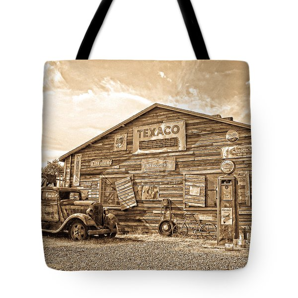 Vintage Service Station Tote Bag
