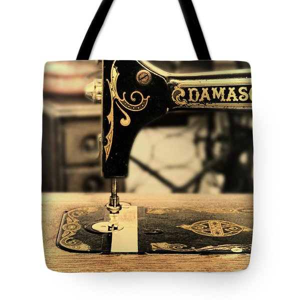 Tote Bag featuring the photograph Vintage Sewing Machine by Jill Battaglia