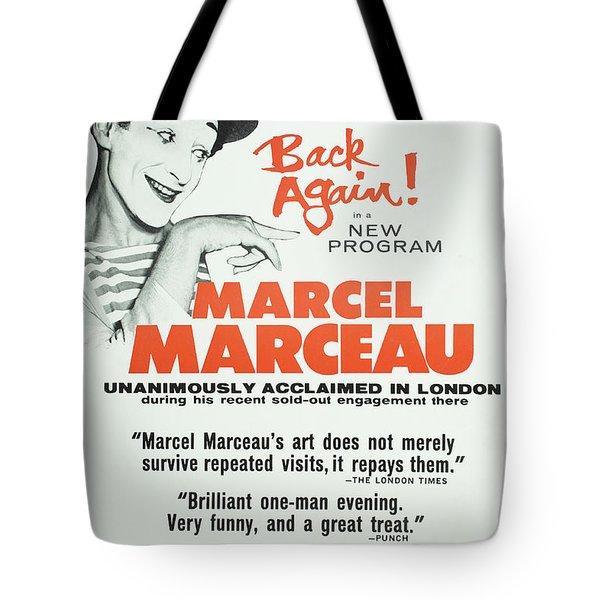 Vintage Show Poster Marcel Marceau Tote Bag