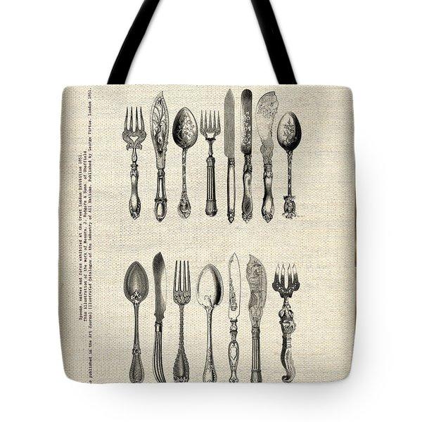 Vintage Silverware Tote Bag
