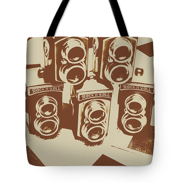 Vintage Snapshots And Old Cameras Tote Bag