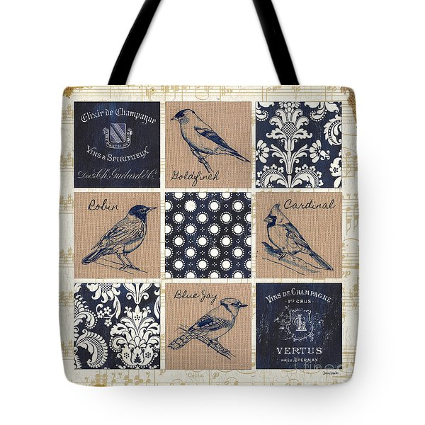 Vintage Songbirds Patch Tote Bag