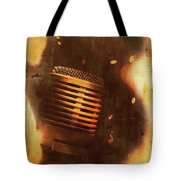 Vintage Sound Check Tote Bag