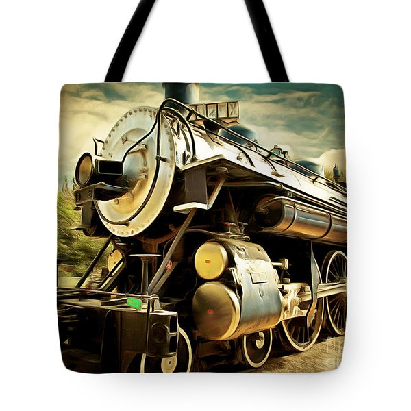 Vintage Steam Locomotive 5d29110brun Tote Bag by Home Decor