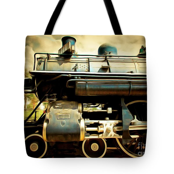 Vintage Steam Locomotive 5d29112brun Tote Bag by Home Decor