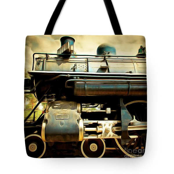Vintage Steam Locomotive 5d29112brun Sq Tote Bag by Home Decor