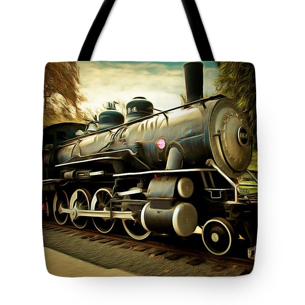 Vintage Steam Locomotive 5d29122brun Tote Bag by Home Decor