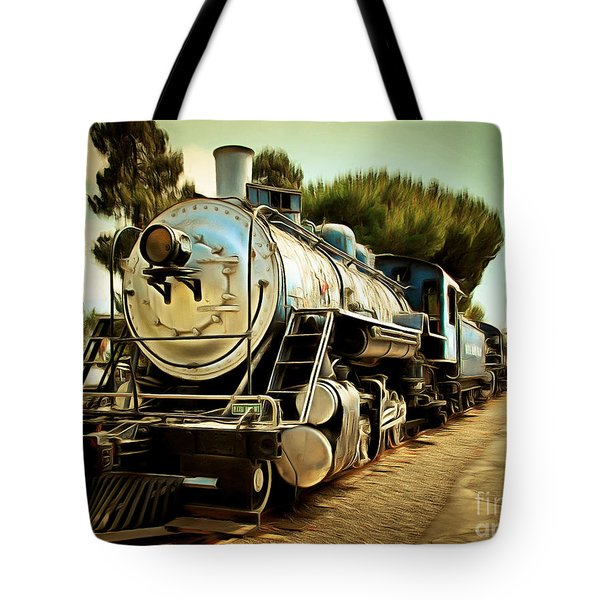 Vintage Steam Locomotive 5d29135brun Tote Bag by Home Decor
