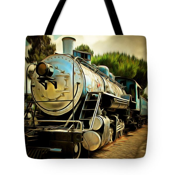 Vintage Steam Locomotive 5d29138brun Tote Bag by Home Decor