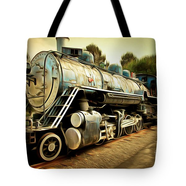 Vintage Steam Locomotive 5d29142brun Tote Bag by Home Decor