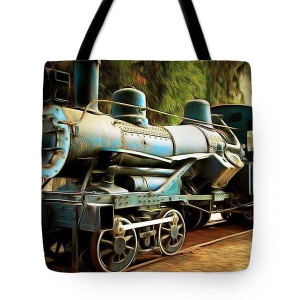 Vintage Steam Locomotive 5d29168brun Tote Bag by Home Decor