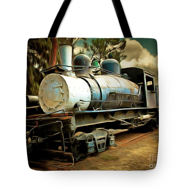 Vintage Steam Locomotive 5d29172brun Tote Bag by Home Decor