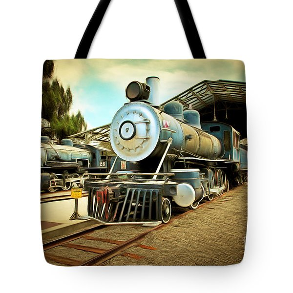 Vintage Steam Locomotive 5d29179brun Tote Bag by Home Decor