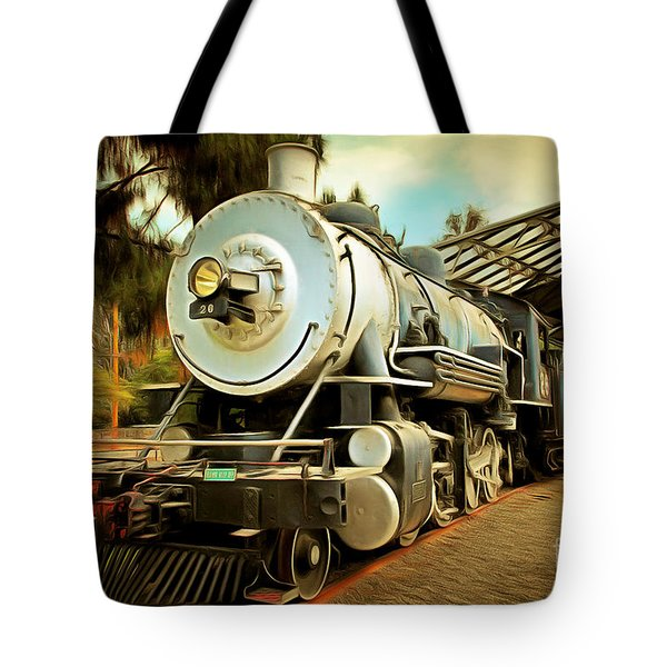 Vintage Steam Locomotive 5d29200brun Tote Bag by Home Decor