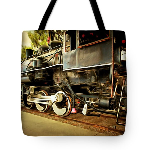 Vintage Steam Locomotive 5d29222brun Tote Bag by Home Decor