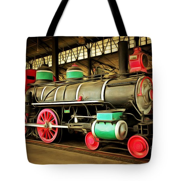 Vintage Steam Locomotive 5d29244brun Tote Bag by Home Decor