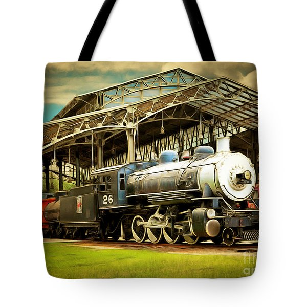 Vintage Steam Locomotive 5d29281brun Tote Bag by Home Decor