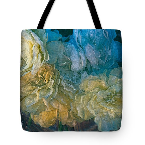 Vintage Still Life Bouquet Painting Tote Bag