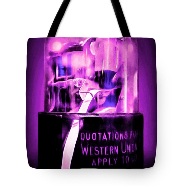 Vintage Stock Market Ticker Tape 7d13056m96 20150220 Tote Bag by Home Decor