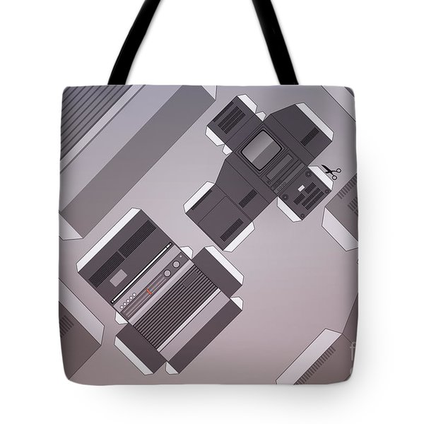 Vintage Streaming Devices Radio And Tv Retro Poster Tote Bag