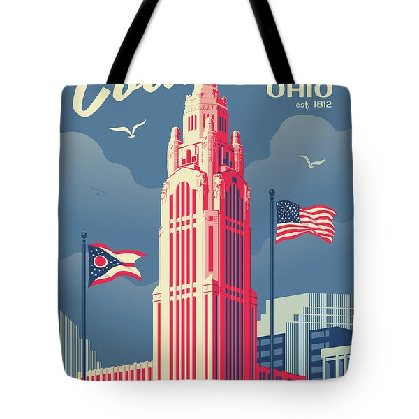 Columbus Poster - Vintage Style Travel Tote Bag