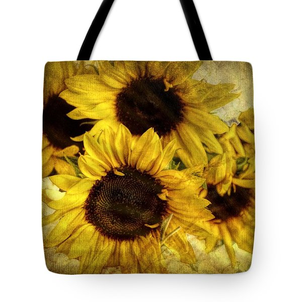 Vintage Sunflowers Tote Bag by Wallaroo Images