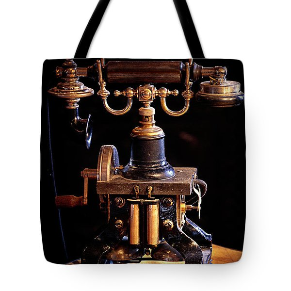 Vintage Telephone - Casa Loma Tote Bag by Maria Angelica Maira