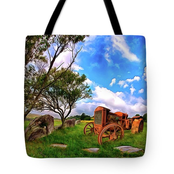Vintage Tractor In The Blue Ridge Ap Tote Bag