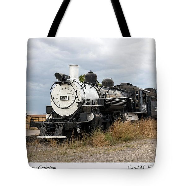 Vintage Train At A Scenic Railroad Station In Antonito In Colorado Tote Bag by Carol M Highsmith