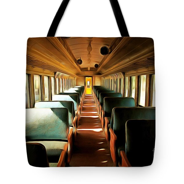 Vintage Train Passenger Car 5d28306brun Tote Bag by Home Decor