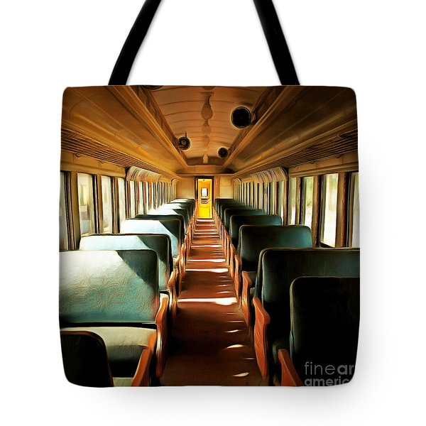 Vintage Train Passenger Car 5d28306brun Square Tote Bag by Home Decor