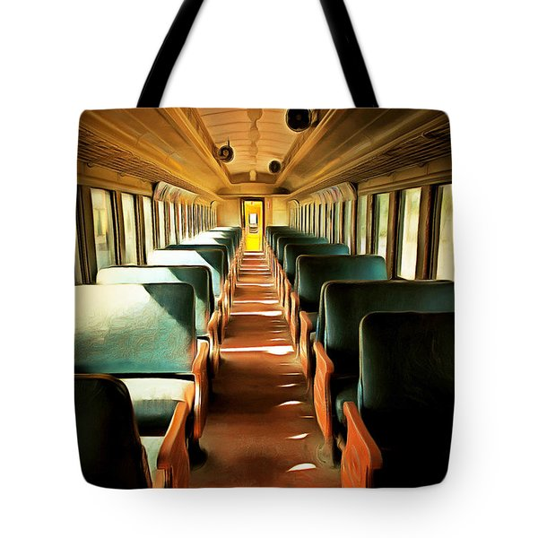Vintage Train Passenger Car 5d28307brun Tote Bag by Home Decor