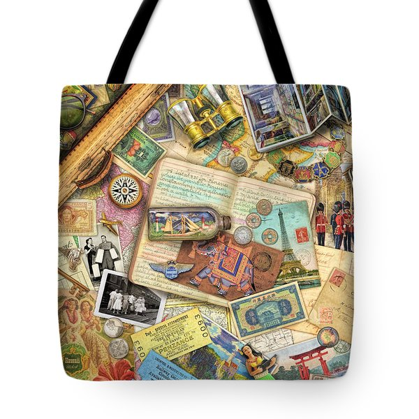 Vintage Travel Tote Bag by Aimee Stewart
