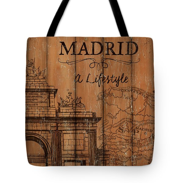 Vintage Travel Madrid Tote Bag