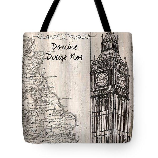 Vintage Travel Poster London Tote Bag