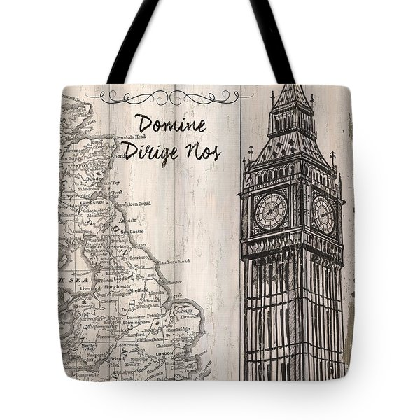 Vintage Travel Poster London Tote Bag by Debbie DeWitt