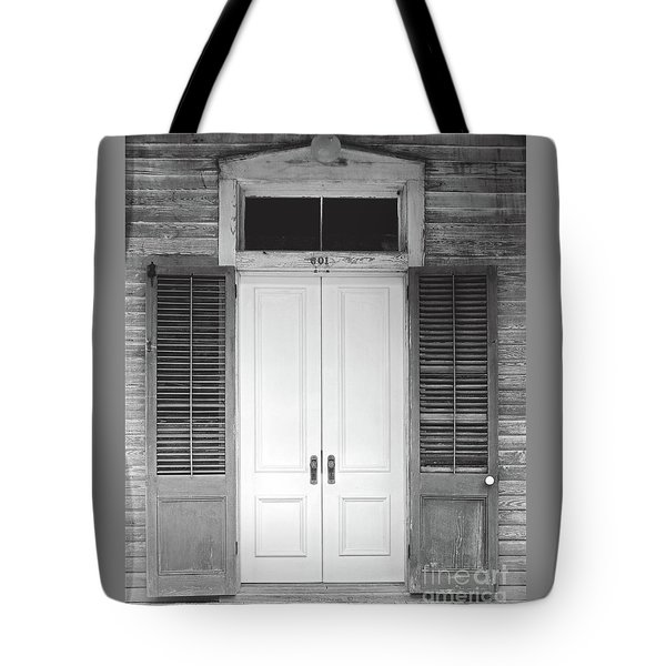 Tote Bag featuring the photograph Vintage Tropical Weathered Key West Florida Doorway by John Stephens
