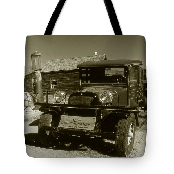 Old Truck 1927 - Vintage Photo Art Print Tote Bag by Art America Gallery Peter Potter
