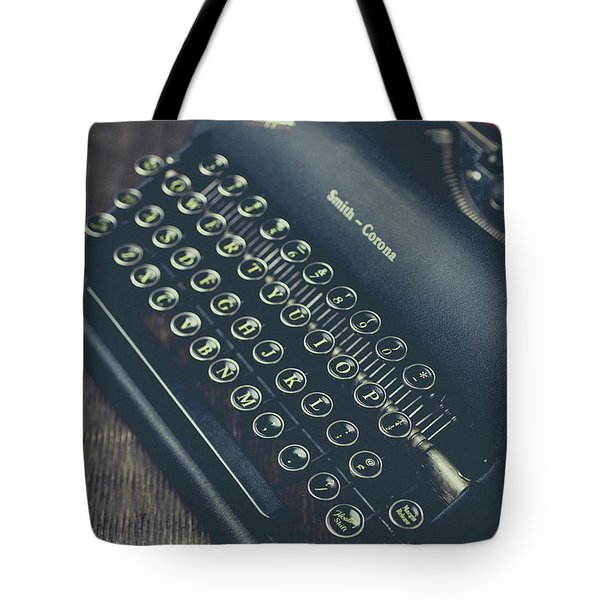 Tote Bag featuring the photograph Vintage Typewriter Faded Film by Edward Fielding